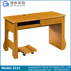 Computer Desk Solid Wood Edge  6112 6112B
